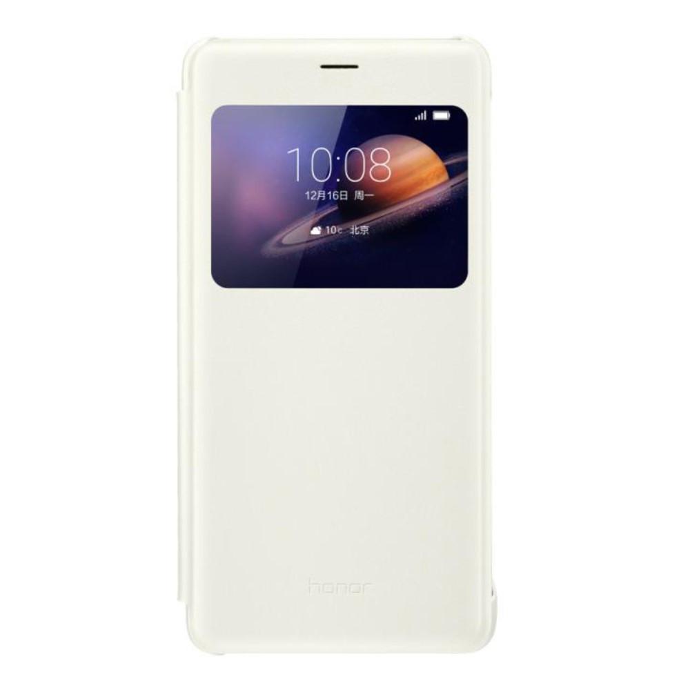 Чехол книжка Кожа Huawei Smart View Window для Huawei Honor V8 белый