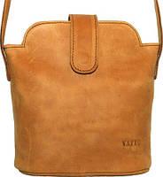 Удобная женская сумочка из натуральной кожи VATTO Wk49 Kr190, рыжий