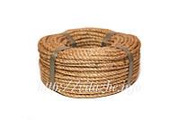 Джутовая веревка (канат для когтеточки) 6 мм 50 метров