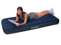 Матрац велюровий надувний Intex 68950 синій 76-191-22 см