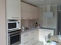 Кухня ваниль глянец МДФ