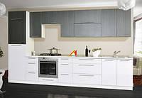 Кухня Стелла комплект 2м белый глянец + ночной дождь   Світ Меблів