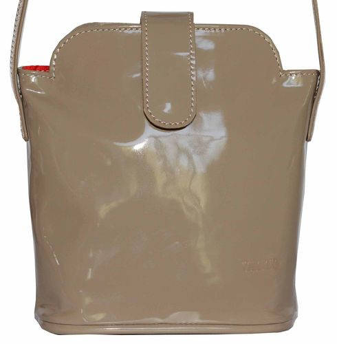 Замечательная женская сумочка из натуральной лаковой кожи цвета капучино VATTO Wk49 L5