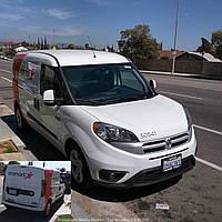 Накладка заднего бампера Fiat Doblo 2010> / Lift. 2014>