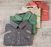 Мужская летняя  рубашка со льна - 1701