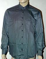 Мужская рубашка черного цвета в клетку