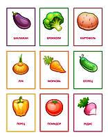 Комплект карточек для наглядности Овощи