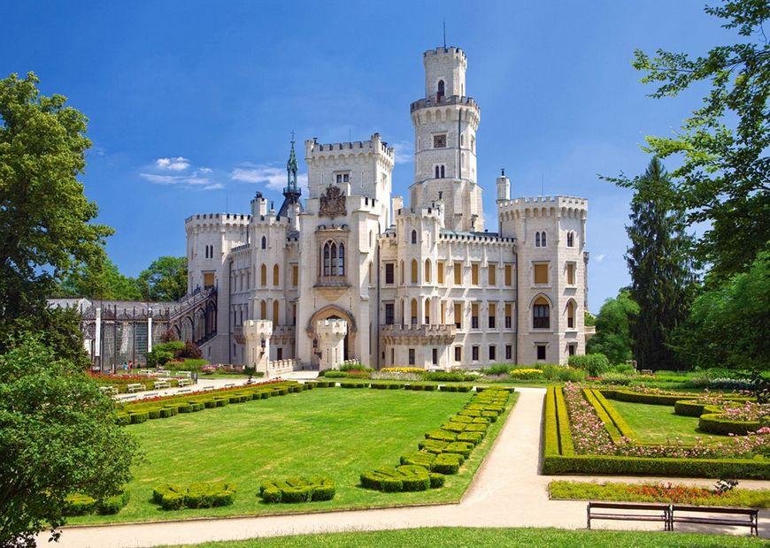 Пазлы Castorland Замок Глубока-над-Влтавой 2167, 1000 элементов
