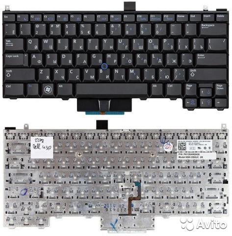 Клавиатура для ноутбука DELL (Latitude: E4310, E4300) rus, black