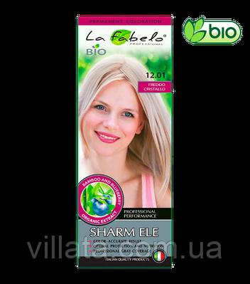 """Крем-краска для волос БИО La Fabelo №12.01 """"Холодный Кристалл. Кристальный Блонд"""" 50 ml Италия"""