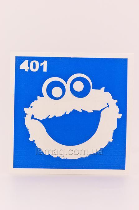 Boni Kasel Трафарет для био тату 6x6 см - 401, 1 шт