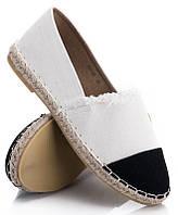 Женские балетки, лодочки туфли  белого цвета на каждый день  размеры 38