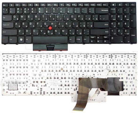 Клавиатура для ноутбука LENOVO (Edge: E520, E525) rus, black