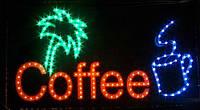 Вывеска COFFY светодиодная в рамке +анимация