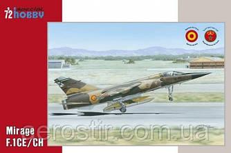 Истребитель ' Mirage F.1CE\CH'   1\72  Special Hobby 72289
