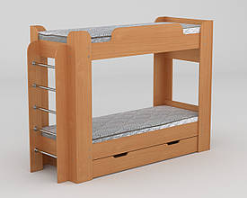 Кровать двухъярусная с выдвижными ящиками Твикс