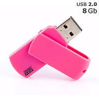 """Флешка """"COLOUR"""" під логотип 8 Gb USB 2.0 рожева"""