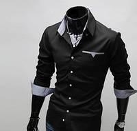 Мужская рубашка Стиляга - черная
