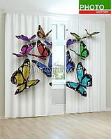 Фотошторы бабочки 3D