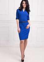 Элегантное женское платье синего цвета