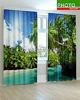 Фотошторы пальмовый залив