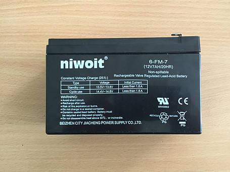 Аккумулятор для детских электромобилей Niwoit  6FM7, фото 2
