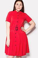 Женское платье-рубашка с поясом в 2х цветах SYMBOL