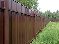 Забор из профнастила – надежно и недорого!