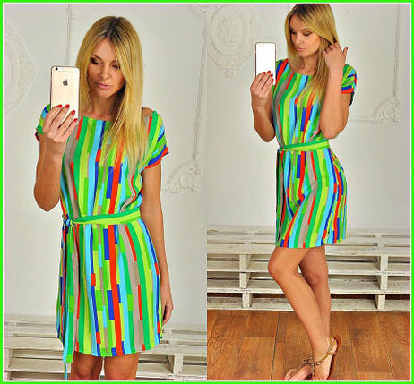 Яркое платье-туника, фото 2