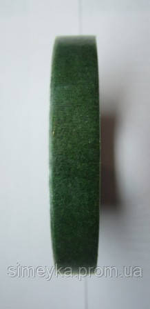 Флористическая лента 12 мм зелёная, моток 23 м
