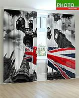 Фотошторы Британский флаг на фоне Биг Бена