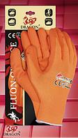 Перчатки из нейлона с полным нанесением нитрила FLUON-ORANGE