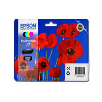 Комплект струйных картриджей Epson для Expression Home XP-103/XP-203/XP-207 №17 B/C/M/Y (C13T17064A10)