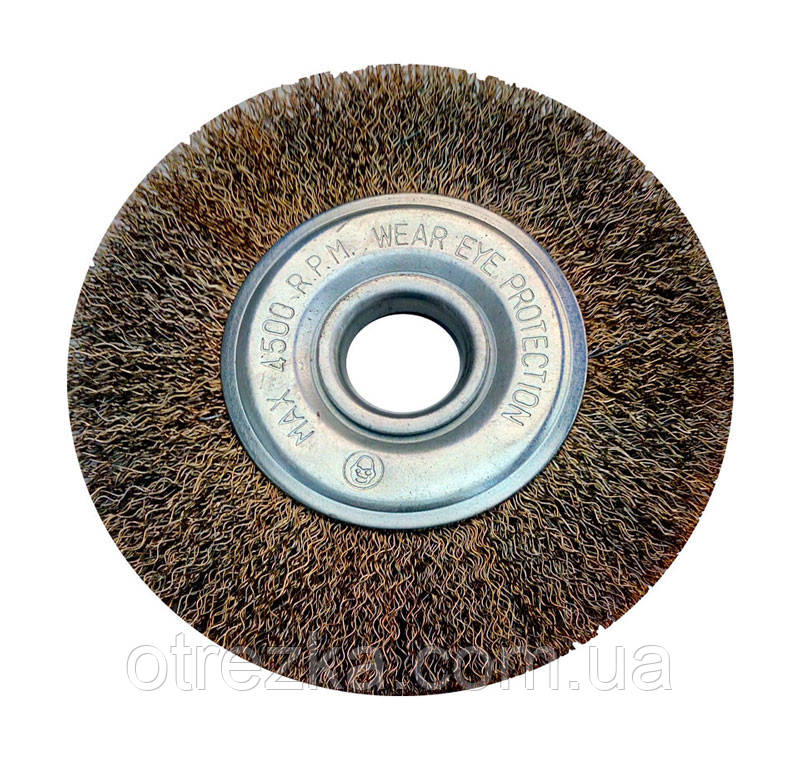 Щетка дисковая крацовка из рифленой проволоки 125х22 мм.