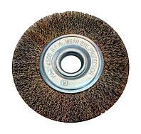 Щетка по металлу для болгарки боковая из рифленой проволоки 150 мм