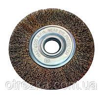 Щетка дисковая крацовка из рифленой проволоки 150х22 мм.