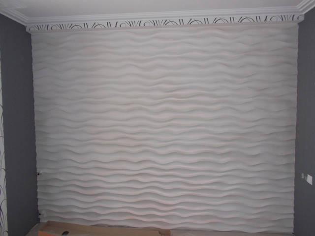 """Гіпсові 3d панелі """"Хвилі"""""""