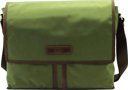 Стильная мужская текстильная сумка с отделением для планшета VATTO T34 N6 Kr450, хаки с коричневым
