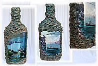 """Оформление бутылки в морском стиле """"Бухта Преображение"""""""