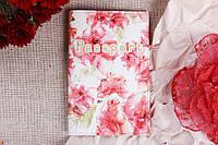 Обложка на Паспорт / Прозрачные Розы Красные / Экокожа