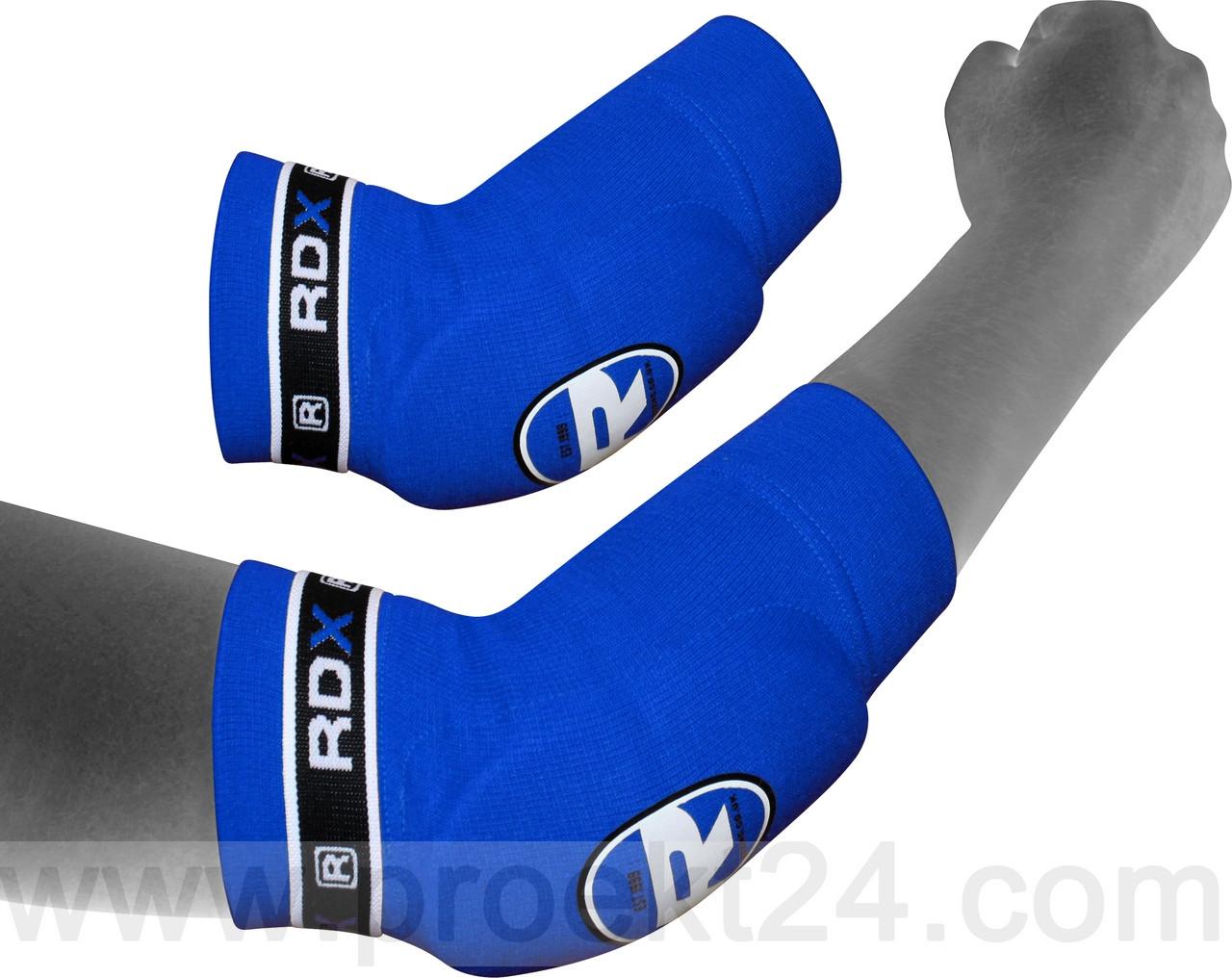 Налокотники для тайского бокса RDX Soft Blue (2 шт.)-M