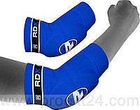 Налокотники для тайского бокса RDX Soft Blue (2 шт.)-XL
