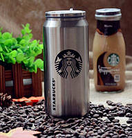 Банка Vacuum Cup Starbucks (цвет -сталь)