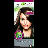 "Крем-краска для волос БИО La Fabelo №4 ""Французский шик"" Каштан 50 ml Италия"