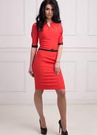 Женское стильное платье красного цвета
