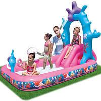 Детский игровой центр-бассейн с горкой BestWay 91051, Русалочка Ариэль