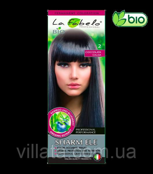 """Крем-краска для волос БИО La Fabelo №2 """"Горячий шоколад"""" Темно-коричневый 50 ml Италия"""
