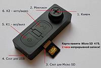 Мини видео регистратор (пуговица с камерой) запись со звуком