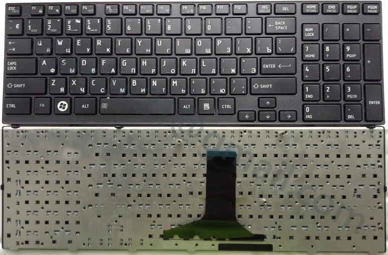 Клавиатура для ноутбука TOSHIBA (A660, A665) rus, black