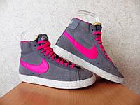 Кроссовки Nike Blazer Vintage 100% р-р 37,5 (23,5см) Б/У СТОК высокие найк  женские , фото 1